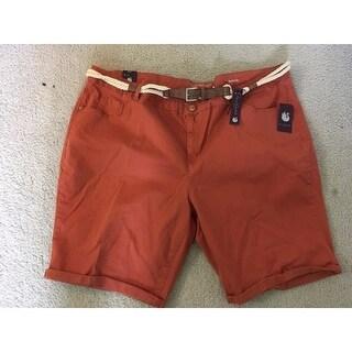 Gloria Vanderbilt shorts Size 24W plus orange joslyn