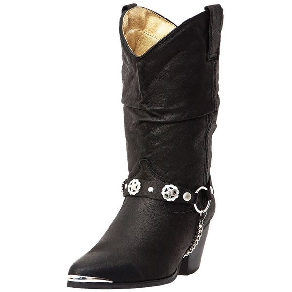 Dingo Fashion Boots Womens Leather Olivia Harness Black Pigskin