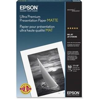 """Epson Photo Paper - Super B - 13"""" x 19"""" - Matte - 50 Sheet - White"""