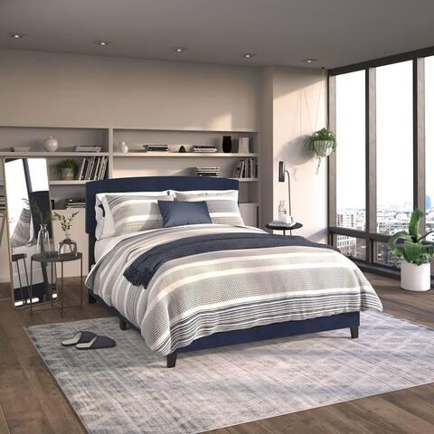 Kotter Home Everett Velvet Platform Bed