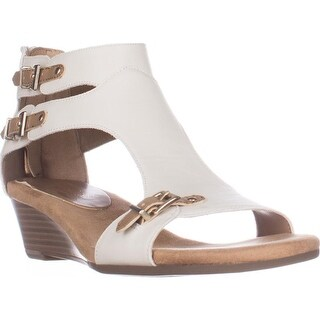 Aerosoles Yet Another Low Wedge Sandals, Bone Combo