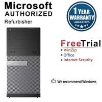 Dell OptiPlex 3010 Computer Tower Intel Core I3 3220 3.3G 4GB DDR3 250G Windows 10 Pro 1 Year Warranty (Refurbished) - Black
