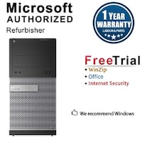 Dell OptiPlex 3010 Computer Tower Intel Core I5 3450 3.1G 8GB DDR3 1TB Windows 10 Pro 1 Year Warranty (Refurbished) - Black