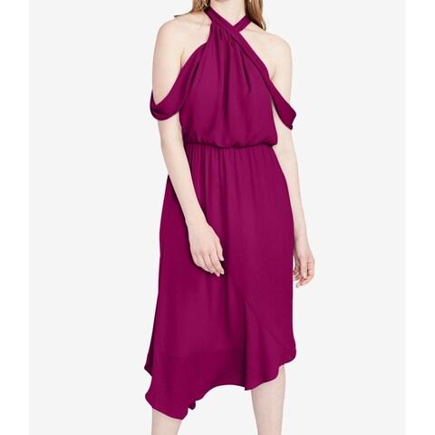 Rachel Rachel Roy Purple Orchid Womens Size 12 Halter Sheath Dress