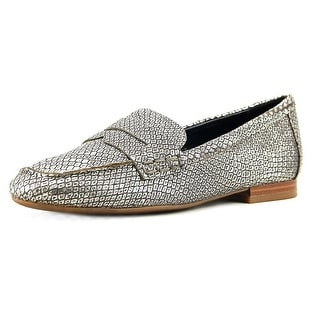 Nine West Linear Round Toe Canvas Loafer