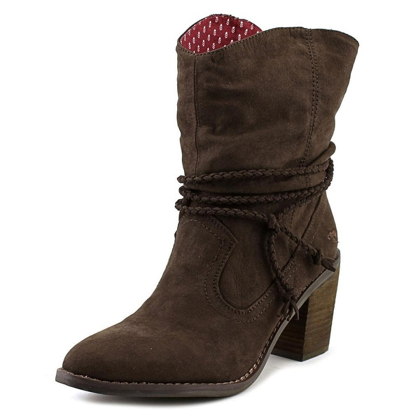 Rocket Dog Deputy Coast Women Pointed Toe Canvas Brown Ankle Boot