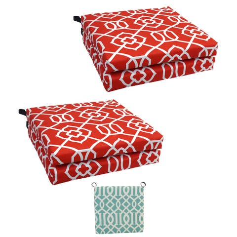 20-inch by 19-inch Patterned Outdoor Chair Cushions (Set of 2)