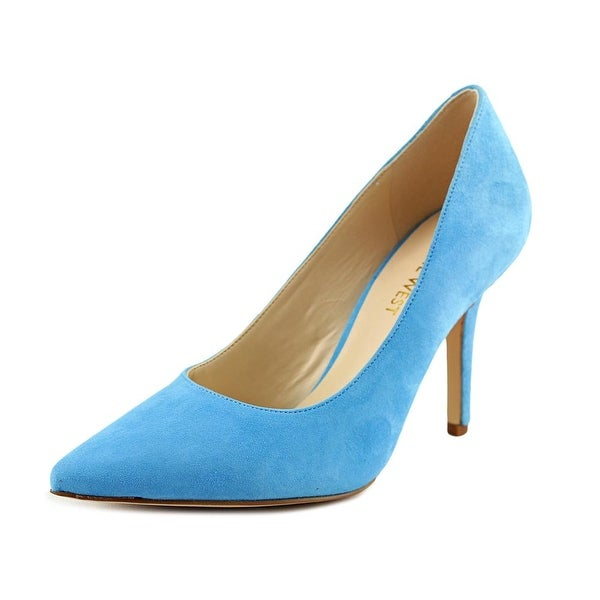 62c556edf74ea Shop Nine West Jackpot Women Pointed Toe Suede Blue Heels - Free ...