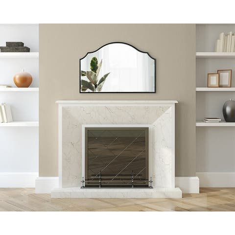 Kate and Laurel Leanna Framed Arch Wall Mirror