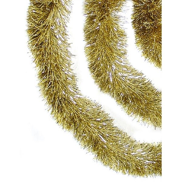 12' Soft and Sassy Champagne Gold Christmas Tinsel Garland - Unlit