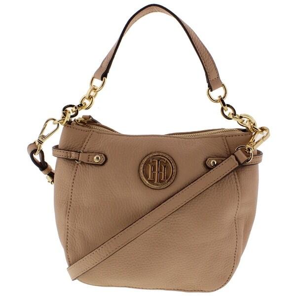 Tommy Hilfiger Womens Sa Crossbody Handbag Leather Convertible Small