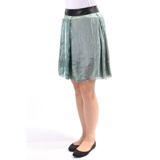 ROBERT RODRIGUEZ $89 Womens New 1710 Green Above The Knee Circle Skirt 8 B+B