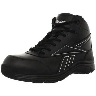 Reebok Mens Tarade Leather Round Toe Work Boots - 10 wide (e)