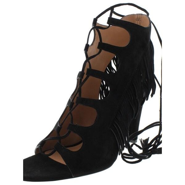 Sigerson Morrison Womens Marita Dress Sandals Suede Fringe