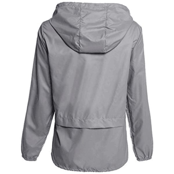 Women/'s Lightweight Rain Jacket Outdoor Packable Waterproof Hooded Zip Raincoat