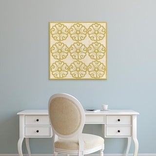 Easy Art Prints June Erica Vess's 'Floral Trellis I' Premium Canvas Art