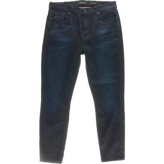Jen 7 Womens Stretch Denim Skinny Crop Jeans