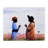 ''Field of Purple'' by Arthur Dawson African American Art Print (19 x 23 in.)