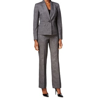 Le Suit NEW Gray Metallic Women's Size 10 2-Piece Pant Suit Set