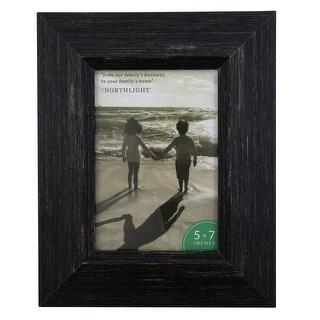 "10"" Distressed Finish Rectangular 5"" x 7"" Photo Picture Frame - Black - 5-inchx7-inch"