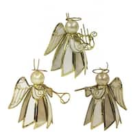 Club Pack of 36 Gold Colored Cone Angel Decorative Christmas Hanging Ornaments