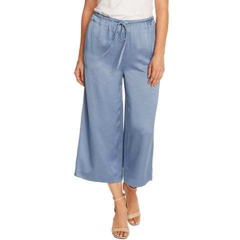 Vince Camuto Womens Cropped Pants Satin Wide-Leg