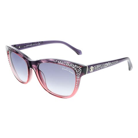 Roberto Cavalli RC991S/S 83B TSZE Purple/Rose Gradient Cat Eye Sunglasses
