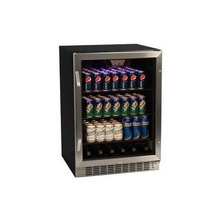 EdgeStar CBR1501SG 24 Inch Wide 148 Can Built-In Beverage Cooler with Tinted Door