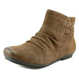 Earth Bliss   Round Toe Leather  Ankle Boot