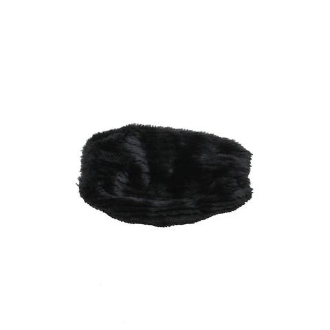 Steve Madden Black Faux-Fur Groove Beaver Arm Cover OS