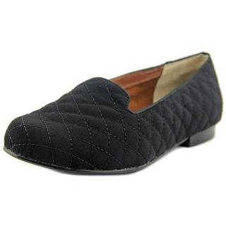 Ros Hommerson Omara Women W Round Toe Canvas Black Loafer
