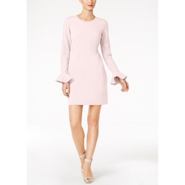 Shop Calvin Klein Womens Scuba Crepe Cutout Back Sheath Dress Free