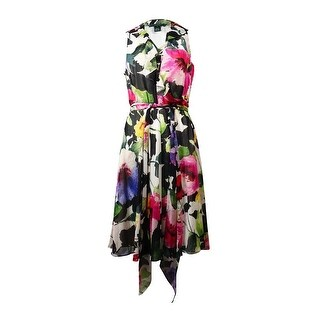 Ralph Lauren Women's Watercolor Ruffled Wrap Dress