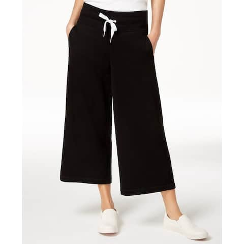 Calvin Klein Performance Women's High Waist Logo Terry Coulotte Pants XS