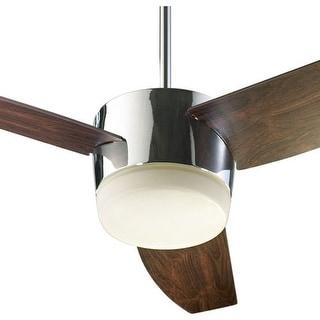 "Quorum International 20543 Trimark 54"" 3 Blade Hanging Indoor Ceiling Fan with Reversible Motor, Blades, and Light Kit"