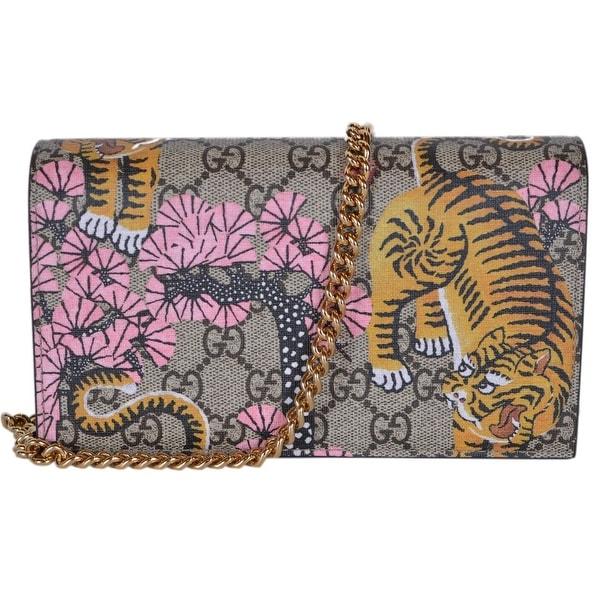 dac181b99f48 Gucci 452348 GG Supreme BENGAL Crossbody Wallet Bag Purse - Multi - 7.5