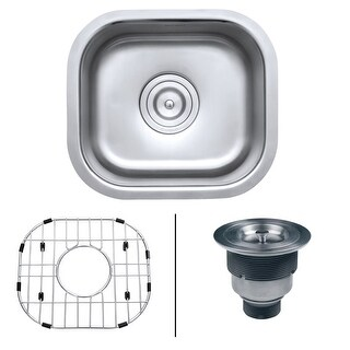 "Ruvati RVM4136 Parmi 13"" Undermount Single Basin 16 Gauge Stainless Steel Kitche"