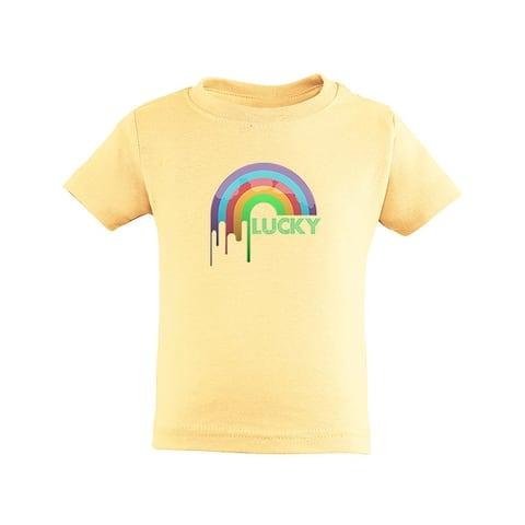 St Patricks Day Lucky Rainbow Toddler Cotton T-Shirt