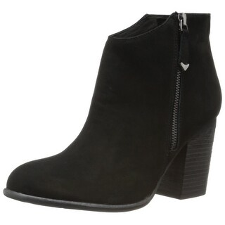 Matisse NEW Black Riley Shoes Size 9.5M Zip-Up Ankle Suede Boots