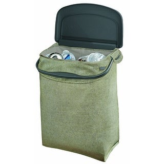 Rubbermaid Hidden Fabric Recycler Bin with Carrying Handle, Green, 5 Gallons