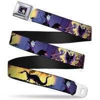 Maleficent Face Full Color Purple Fade Maleficent Poses Webbing Seatbelt Seatbelt Belt