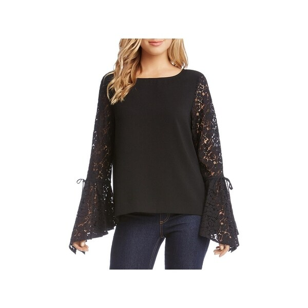 5e8392ed5f5c4f Shop Karen Kane Womens Box Top Lace Angel Sleeves - Free Shipping On Orders  Over  45 - Overstock - 24312932