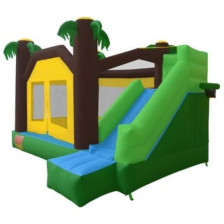 Cloud 9 Mighty Bounce House - Jungle Theme - Inflatable Kids Jumper without Blower
