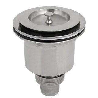 Bathroom Stainless Steel Basket Drainage Basin Stopper Sink Strainer Set