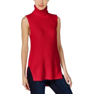 Calvin Klein Jeans Womens Pullover Sweater Sleeveless Side-Zip