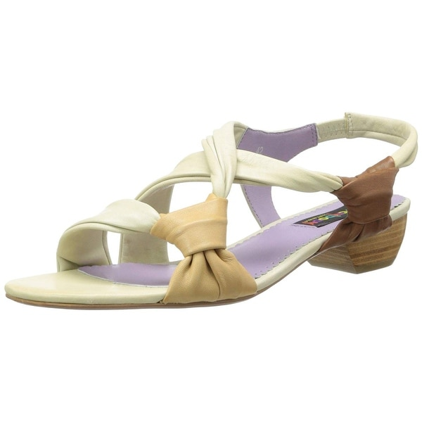 Everybody Women's Morataria Dress Sandal, Ivory/Nocciola/Noce, Size 6.5
