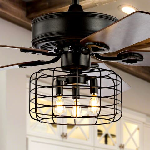 "Asher 52"" 3-Light LED Ceiling Fan with Remote, by JONATHAN Y"