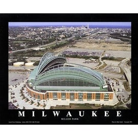 ''Milwaukee, Wisconsin - Brewers at Miller Park'' by Mike Smith Stadiums Art Print (22 x 28 in.)