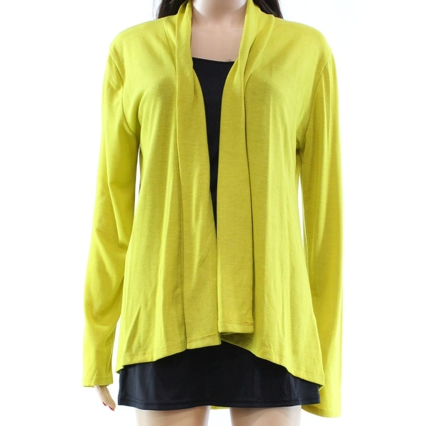 Shop Daisy Fuentes New Yellow Mustard Open Front Large L Cardigan