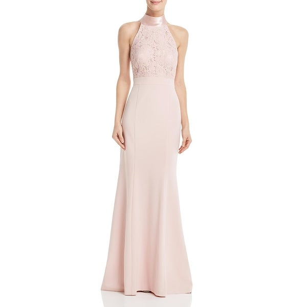 Eliza J Womens Formal Dress Lace Halter - Blush. Opens flyout.